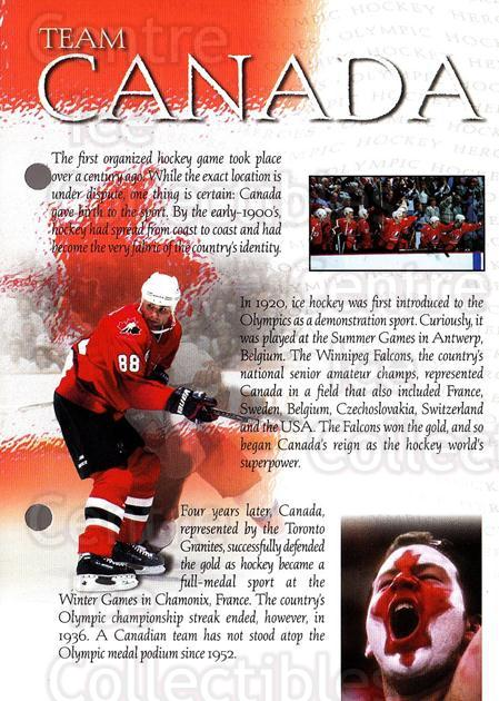1997-98 Esso Olympic Hockey Heroes #5 Eric Lindros, Team Canada<br/>6 In Stock - $3.00 each - <a href=https://centericecollectibles.foxycart.com/cart?name=1997-98%20Esso%20Olympic%20Hockey%20Heroes%20%235%20Eric%20Lindros,%20T...&quantity_max=6&price=$3.00&code=57947 class=foxycart> Buy it now! </a>