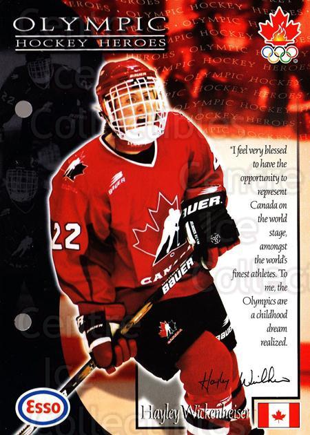 1997-98 Esso Olympic Hockey Heroes #58 Hayley Wickenheiser<br/>4 In Stock - $3.00 each - <a href=https://centericecollectibles.foxycart.com/cart?name=1997-98%20Esso%20Olympic%20Hockey%20Heroes%20%2358%20Hayley%20Wickenhe...&quantity_max=4&price=$3.00&code=57955 class=foxycart> Buy it now! </a>