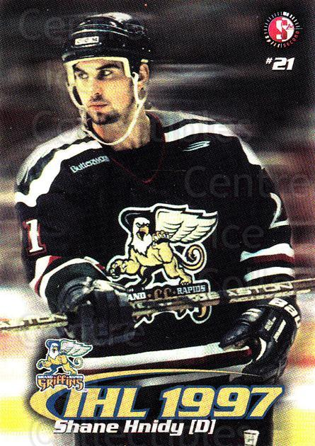 1997-98 Grand Rapids Griffins #7 Shane Hnidy<br/>2 In Stock - $3.00 each - <a href=https://centericecollectibles.foxycart.com/cart?name=1997-98%20Grand%20Rapids%20Griffins%20%237%20Shane%20Hnidy...&price=$3.00&code=57979 class=foxycart> Buy it now! </a>