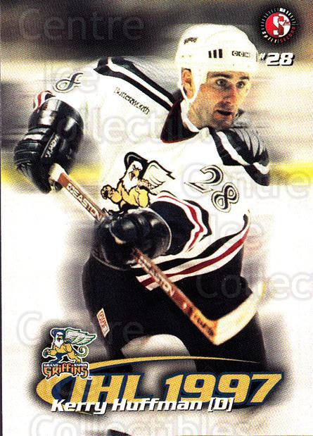 1997-98 Grand Rapids Griffins #8 Kerry Huffman<br/>4 In Stock - $3.00 each - <a href=https://centericecollectibles.foxycart.com/cart?name=1997-98%20Grand%20Rapids%20Griffins%20%238%20Kerry%20Huffman...&price=$3.00&code=57980 class=foxycart> Buy it now! </a>