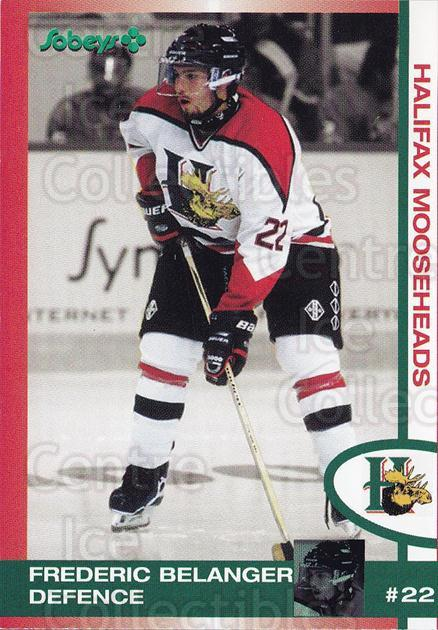 1997-98 Halifax Mooseheads #1 Frederic Belanger<br/>1 In Stock - $3.00 each - <a href=https://centericecollectibles.foxycart.com/cart?name=1997-98%20Halifax%20Mooseheads%20%231%20Frederic%20Belang...&quantity_max=1&price=$3.00&code=57982 class=foxycart> Buy it now! </a>