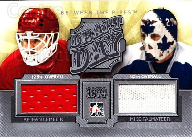 2012-13 Between The Pipes Draft Day Jersey Silver #19 Rejean Lemelin, Mike Palmateer<br/>1 In Stock - $5.00 each - <a href=https://centericecollectibles.foxycart.com/cart?name=2012-13%20Between%20The%20Pipes%20Draft%20Day%20Jersey%20Silver%20%2319%20Rejean%20Lemelin,...&price=$5.00&code=579910 class=foxycart> Buy it now! </a>