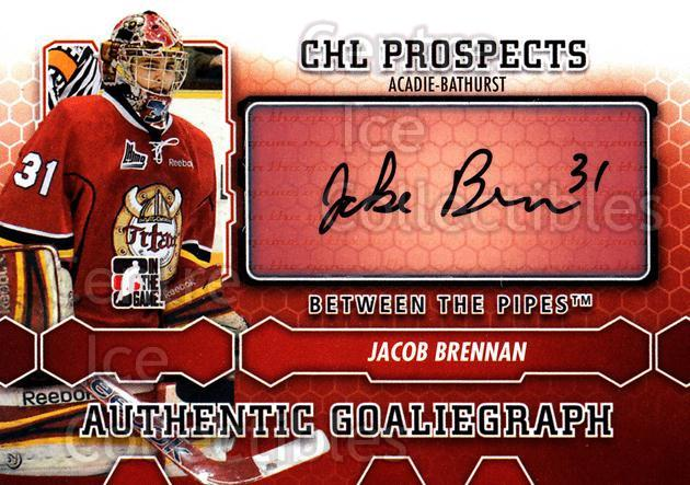 2012-13 Between The Pipes Auto #AJB Jacob Brennan<br/>1 In Stock - $5.00 each - <a href=https://centericecollectibles.foxycart.com/cart?name=2012-13%20Between%20The%20Pipes%20Auto%20%23AJB%20Jacob%20Brennan...&quantity_max=1&price=$5.00&code=579975 class=foxycart> Buy it now! </a>