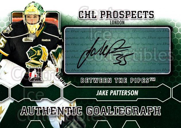 2012-13 Between The Pipes Auto #AJPAT Jake Patterson<br/>1 In Stock - $5.00 each - <a href=https://centericecollectibles.foxycart.com/cart?name=2012-13%20Between%20The%20Pipes%20Auto%20%23AJPAT%20Jake%20Patterson...&quantity_max=1&price=$5.00&code=579989 class=foxycart> Buy it now! </a>