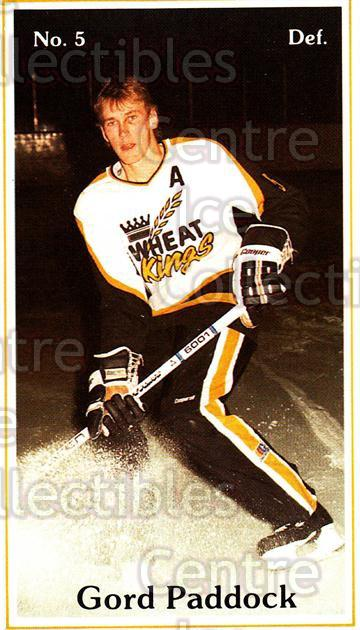 1983-84 Brandon Wheat Kings #3 Gordon Paddock<br/>2 In Stock - $3.00 each - <a href=https://centericecollectibles.foxycart.com/cart?name=1983-84%20Brandon%20Wheat%20Kings%20%233%20Gordon%20Paddock...&quantity_max=2&price=$3.00&code=57 class=foxycart> Buy it now! </a>
