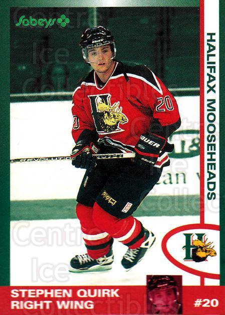 1997-98 Halifax Mooseheads Series Two #17 Stephen Quirk<br/>3 In Stock - $3.00 each - <a href=https://centericecollectibles.foxycart.com/cart?name=1997-98%20Halifax%20Mooseheads%20Series%20Two%20%2317%20Stephen%20Quirk...&quantity_max=3&price=$3.00&code=58011 class=foxycart> Buy it now! </a>