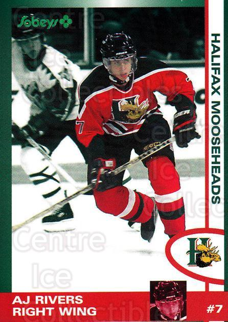1997-98 Halifax Mooseheads Series Two #19 AJ Rivers<br/>3 In Stock - $3.00 each - <a href=https://centericecollectibles.foxycart.com/cart?name=1997-98%20Halifax%20Mooseheads%20Series%20Two%20%2319%20AJ%20Rivers...&quantity_max=3&price=$3.00&code=58012 class=foxycart> Buy it now! </a>