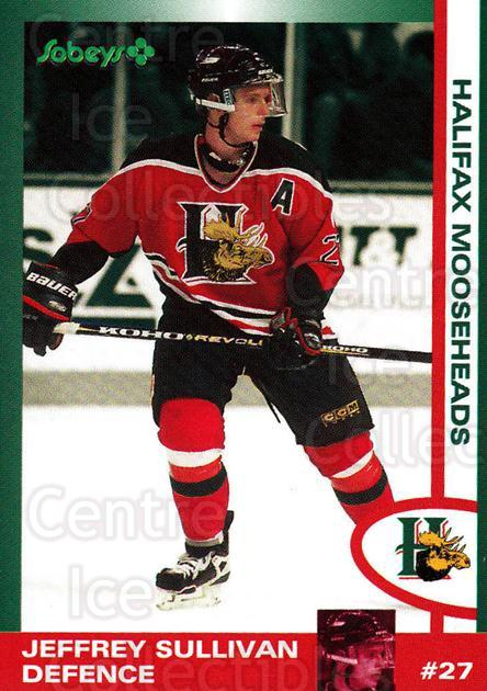 1997-98 Halifax Mooseheads Series Two #21 Jeff Sullivan<br/>1 In Stock - $3.00 each - <a href=https://centericecollectibles.foxycart.com/cart?name=1997-98%20Halifax%20Mooseheads%20Series%20Two%20%2321%20Jeff%20Sullivan...&quantity_max=1&price=$3.00&code=58014 class=foxycart> Buy it now! </a>