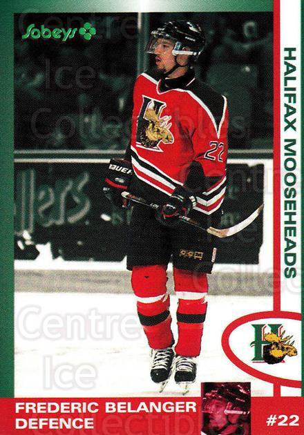 1997-98 Halifax Mooseheads Series Two #1 Frederic Belanger<br/>6 In Stock - $3.00 each - <a href=https://centericecollectibles.foxycart.com/cart?name=1997-98%20Halifax%20Mooseheads%20Series%20Two%20%231%20Frederic%20Belang...&quantity_max=6&price=$3.00&code=58015 class=foxycart> Buy it now! </a>