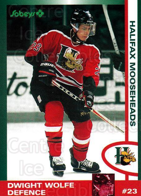 1997-98 Halifax Mooseheads Series Two #26 Dwight Wolfe<br/>4 In Stock - $3.00 each - <a href=https://centericecollectibles.foxycart.com/cart?name=1997-98%20Halifax%20Mooseheads%20Series%20Two%20%2326%20Dwight%20Wolfe...&quantity_max=4&price=$3.00&code=58018 class=foxycart> Buy it now! </a>