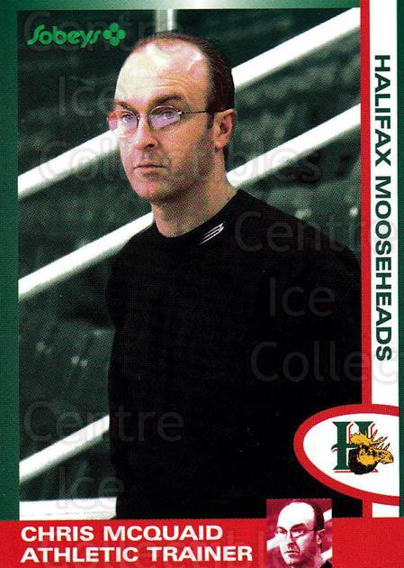 1997-98 Halifax Mooseheads Series Two #15 Chris McQuaid<br/>5 In Stock - $3.00 each - <a href=https://centericecollectibles.foxycart.com/cart?name=1997-98%20Halifax%20Mooseheads%20Series%20Two%20%2315%20Chris%20McQuaid...&quantity_max=5&price=$3.00&code=58022 class=foxycart> Buy it now! </a>