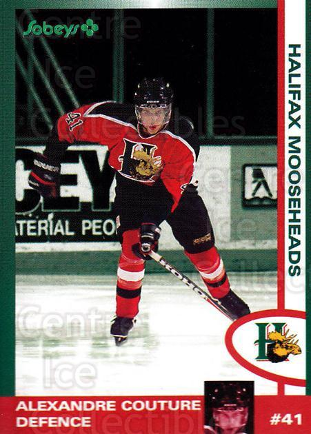 1997-98 Halifax Mooseheads Series Two #4 Alexandre Couture<br/>5 In Stock - $3.00 each - <a href=https://centericecollectibles.foxycart.com/cart?name=1997-98%20Halifax%20Mooseheads%20Series%20Two%20%234%20Alexandre%20Coutu...&quantity_max=5&price=$3.00&code=58025 class=foxycart> Buy it now! </a>
