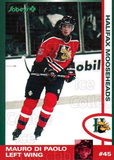 1997-98 Halifax Mooseheads Series Two #5 Mauro DiPaolo<br/>6 In Stock - $3.00 each - <a href=https://centericecollectibles.foxycart.com/cart?name=1997-98%20Halifax%20Mooseheads%20Series%20Two%20%235%20Mauro%20DiPaolo...&quantity_max=6&price=$3.00&code=58026 class=foxycart> Buy it now! </a>