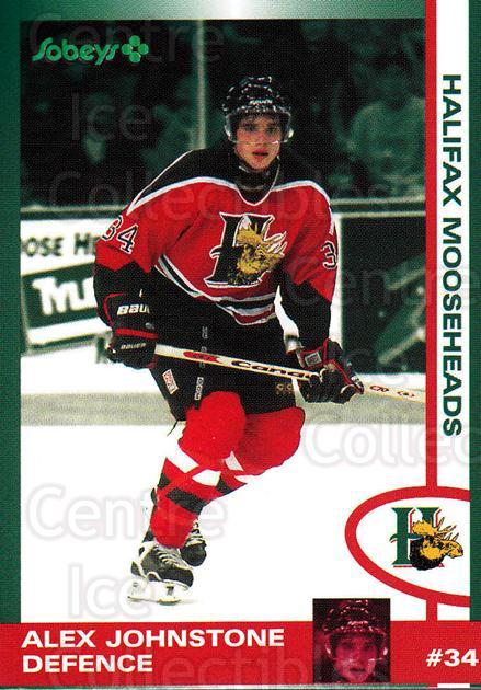 1997-98 Halifax Mooseheads Series Two #7 Alex Johnstone<br/>2 In Stock - $3.00 each - <a href=https://centericecollectibles.foxycart.com/cart?name=1997-98%20Halifax%20Mooseheads%20Series%20Two%20%237%20Alex%20Johnstone...&quantity_max=2&price=$3.00&code=58027 class=foxycart> Buy it now! </a>