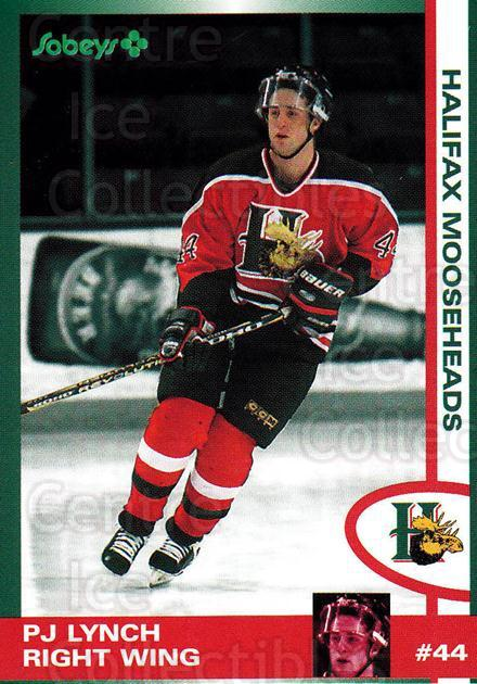 1997-98 Halifax Mooseheads Series Two #8 PJ Lynch<br/>6 In Stock - $3.00 each - <a href=https://centericecollectibles.foxycart.com/cart?name=1997-98%20Halifax%20Mooseheads%20Series%20Two%20%238%20PJ%20Lynch...&quantity_max=6&price=$3.00&code=58028 class=foxycart> Buy it now! </a>