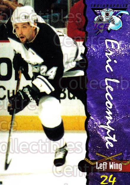 1997-98 Indianapolis Ice #14 Eric Lecompte<br/>4 In Stock - $3.00 each - <a href=https://centericecollectibles.foxycart.com/cart?name=1997-98%20Indianapolis%20Ice%20%2314%20Eric%20Lecompte...&quantity_max=4&price=$3.00&code=58034 class=foxycart> Buy it now! </a>