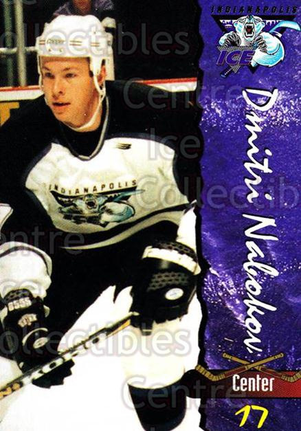 1997-98 Indianapolis Ice #20 Dmitri Nabokov<br/>3 In Stock - $3.00 each - <a href=https://centericecollectibles.foxycart.com/cart?name=1997-98%20Indianapolis%20Ice%20%2320%20Dmitri%20Nabokov...&quantity_max=3&price=$3.00&code=58040 class=foxycart> Buy it now! </a>