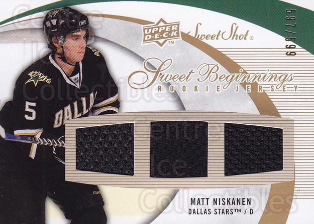 2007-08 Sweet Shot #113 Matt Niskanen<br/>1 In Stock - $5.00 each - <a href=https://centericecollectibles.foxycart.com/cart?name=2007-08%20Sweet%20Shot%20%23113%20Matt%20Niskanen...&quantity_max=1&price=$5.00&code=580774 class=foxycart> Buy it now! </a>