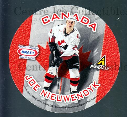 1997-98 Kraft Peanut Butter Team Canada #1 Rob Blake, Joe Nieuwendyk<br/>6 In Stock - $2.00 each - <a href=https://centericecollectibles.foxycart.com/cart?name=1997-98%20Kraft%20Peanut%20Butter%20Team%20Canada%20%231%20Rob%20Blake,%20Joe%20...&quantity_max=6&price=$2.00&code=58088 class=foxycart> Buy it now! </a>