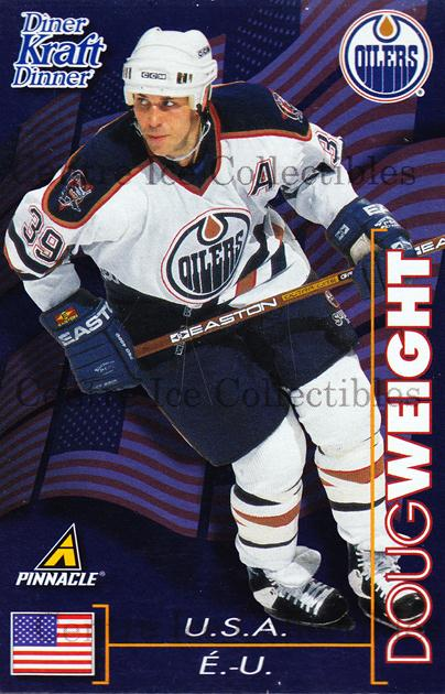 1997-98 Kraft Dinner #24 Doug Weight<br/>5 In Stock - $3.00 each - <a href=https://centericecollectibles.foxycart.com/cart?name=1997-98%20Kraft%20Dinner%20%2324%20Doug%20Weight...&quantity_max=5&price=$3.00&code=58102 class=foxycart> Buy it now! </a>