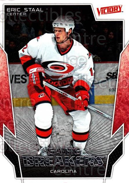 2007-08 UD Victory Game Breakers #39 Eric Staal<br/>4 In Stock - $2.00 each - <a href=https://centericecollectibles.foxycart.com/cart?name=2007-08%20UD%20Victory%20Game%20Breakers%20%2339%20Eric%20Staal...&quantity_max=4&price=$2.00&code=581481 class=foxycart> Buy it now! </a>