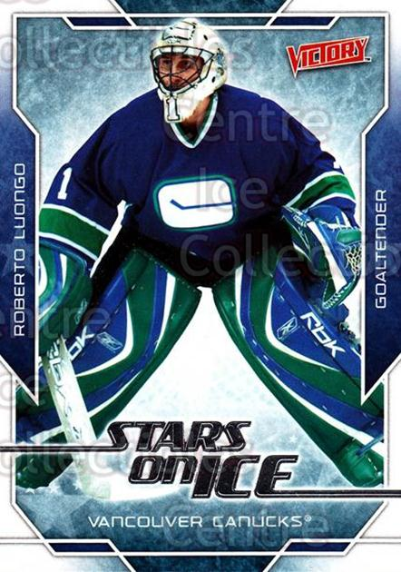 2007-08 UD Victory Stars on Ice #1 Roberto Luongo<br/>2 In Stock - $2.00 each - <a href=https://centericecollectibles.foxycart.com/cart?name=2007-08%20UD%20Victory%20Stars%20on%20Ice%20%231%20Roberto%20Luongo...&quantity_max=2&price=$2.00&code=581489 class=foxycart> Buy it now! </a>