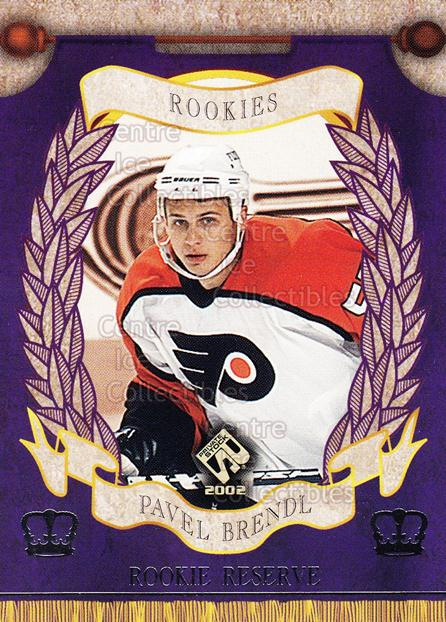 2001-02 Private Stock Reserve Insert Rookies #7 Pavel Brendl<br/>2 In Stock - $3.00 each - <a href=https://centericecollectibles.foxycart.com/cart?name=2001-02%20Private%20Stock%20Reserve%20Insert%20Rookies%20%237%20Pavel%20Brendl...&quantity_max=2&price=$3.00&code=581542 class=foxycart> Buy it now! </a>