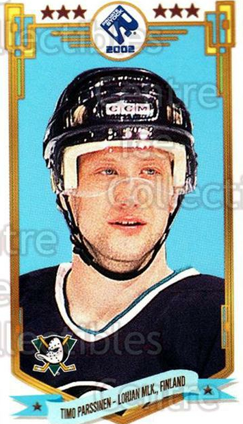 2001-02 Private Stock PS 2002 Action #77 Timo Parssinen<br/>2 In Stock - $2.00 each - <a href=https://centericecollectibles.foxycart.com/cart?name=2001-02%20Private%20Stock%20PS%202002%20Action%20%2377%20Timo%20Parssinen...&quantity_max=2&price=$2.00&code=581725 class=foxycart> Buy it now! </a>