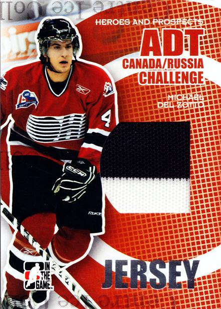 2008-09 ITG Heroes and Prospects Canada Russia Jersey Silver #10 Michael Del Zotto<br/>1 In Stock - $10.00 each - <a href=https://centericecollectibles.foxycart.com/cart?name=2008-09%20ITG%20Heroes%20and%20Prospects%20Canada%20Russia%20Jersey%20Silver%20%2310%20Michael%20Del%20Zot...&quantity_max=1&price=$10.00&code=581745 class=foxycart> Buy it now! </a>