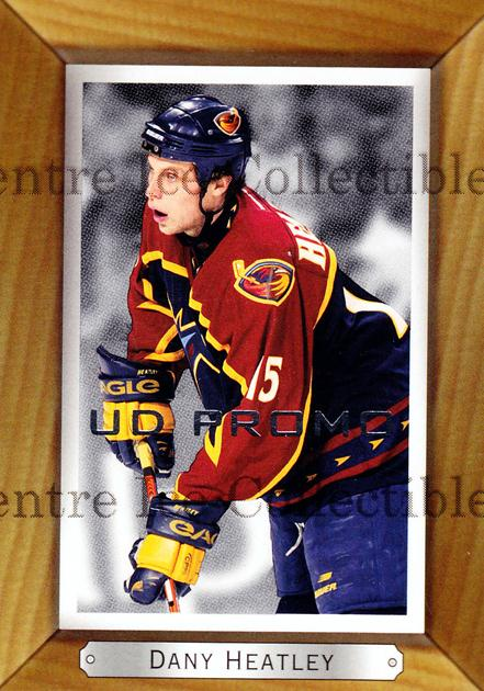 2003-04 Beehive UD Promos #11 Dany Heatley<br/>1 In Stock - $3.00 each - <a href=https://centericecollectibles.foxycart.com/cart?name=2003-04%20Beehive%20UD%20Promos%20%2311%20Dany%20Heatley...&quantity_max=1&price=$3.00&code=581940 class=foxycart> Buy it now! </a>