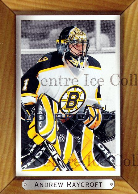 2003-04 Beehive UD Promos #13 Andrew Raycroft<br/>1 In Stock - $3.00 each - <a href=https://centericecollectibles.foxycart.com/cart?name=2003-04%20Beehive%20UD%20Promos%20%2313%20Andrew%20Raycroft...&quantity_max=1&price=$3.00&code=581954 class=foxycart> Buy it now! </a>