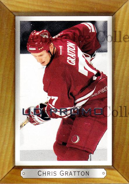 2003-04 Beehive UD Promos #149 Chris Gratton<br/>1 In Stock - $3.00 each - <a href=https://centericecollectibles.foxycart.com/cart?name=2003-04%20Beehive%20UD%20Promos%20%23149%20Chris%20Gratton...&quantity_max=1&price=$3.00&code=581975 class=foxycart> Buy it now! </a>