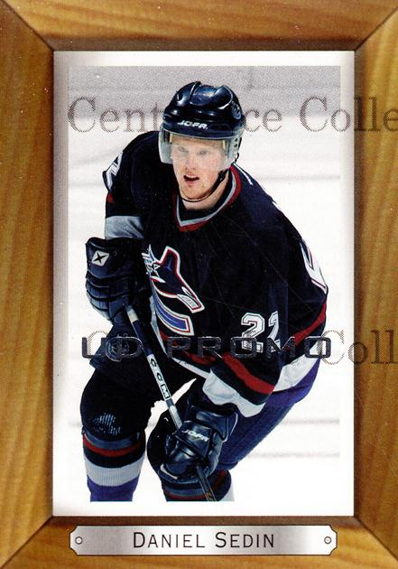 2003-04 Beehive UD Promos #185 Daniel Sedin<br/>1 In Stock - $3.00 each - <a href=https://centericecollectibles.foxycart.com/cart?name=2003-04%20Beehive%20UD%20Promos%20%23185%20Daniel%20Sedin...&price=$3.00&code=582013 class=foxycart> Buy it now! </a>