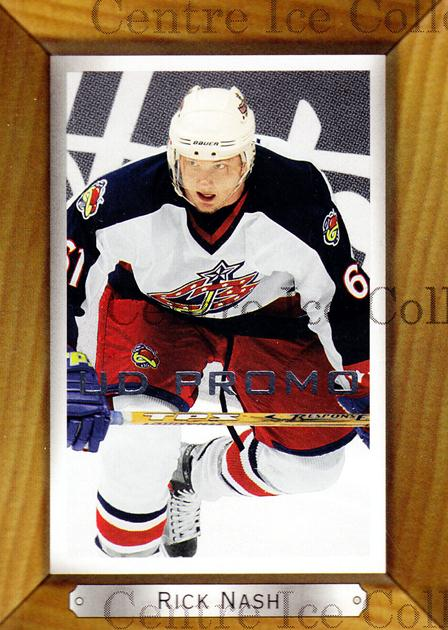 2003-04 Beehive UD Promos #59 Rick Nash<br/>1 In Stock - $3.00 each - <a href=https://centericecollectibles.foxycart.com/cart?name=2003-04%20Beehive%20UD%20Promos%20%2359%20Rick%20Nash...&quantity_max=1&price=$3.00&code=582064 class=foxycart> Buy it now! </a>