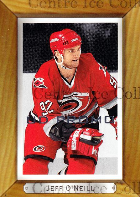 2003-04 Beehive UD Promos #33 Jeff O'Neill<br/>1 In Stock - $3.00 each - <a href=https://centericecollectibles.foxycart.com/cart?name=2003-04%20Beehive%20UD%20Promos%20%2333%20Jeff%20O'Neill...&quantity_max=1&price=$3.00&code=582155 class=foxycart> Buy it now! </a>