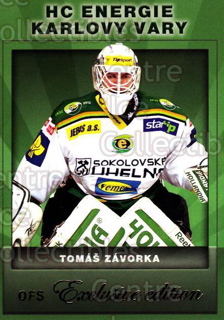 2012-13 Czech OFS Exclusive #37 Tomas Zavorka<br/>3 In Stock - $2.00 each - <a href=https://centericecollectibles.foxycart.com/cart?name=2012-13%20Czech%20OFS%20Exclusive%20%2337%20Tomas%20Zavorka...&quantity_max=3&price=$2.00&code=582230 class=foxycart> Buy it now! </a>