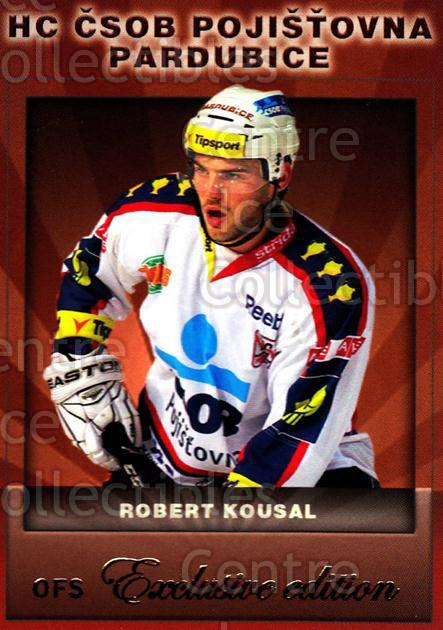 2012-13 Czech OFS Exclusive #89 Robert Kousal<br/>1 In Stock - $2.00 each - <a href=https://centericecollectibles.foxycart.com/cart?name=2012-13%20Czech%20OFS%20Exclusive%20%2389%20Robert%20Kousal...&quantity_max=1&price=$2.00&code=582282 class=foxycart> Buy it now! </a>