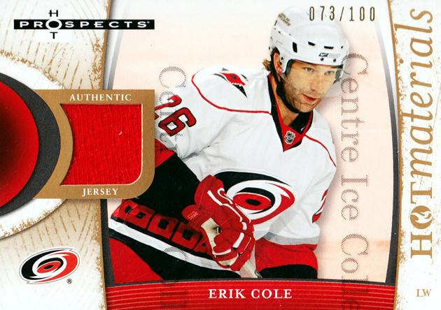2007-08 Hot Prospects Hot Materials Red Hot #HMEC Erik Cole<br/>1 In Stock - $5.00 each - <a href=https://centericecollectibles.foxycart.com/cart?name=2007-08%20Hot%20Prospects%20Hot%20Materials%20Red%20Hot%20%23HMEC%20Erik%20Cole...&quantity_max=1&price=$5.00&code=582681 class=foxycart> Buy it now! </a>