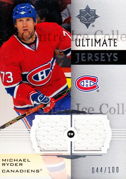 2007-08 UD Ultimate Collection Jersey #UJMR Michael Ryder<br/>1 In Stock - $5.00 each - <a href=https://centericecollectibles.foxycart.com/cart?name=2007-08%20UD%20Ultimate%20Collection%20Jersey%20%23UJMR%20Michael%20Ryder...&quantity_max=1&price=$5.00&code=582784 class=foxycart> Buy it now! </a>