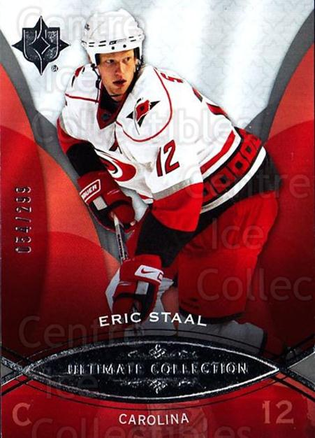 2008-09 UD Ultimate Collection #6 Eric Staal<br/>1 In Stock - $5.00 each - <a href=https://centericecollectibles.foxycart.com/cart?name=2008-09%20UD%20Ultimate%20Collection%20%236%20Eric%20Staal...&quantity_max=1&price=$5.00&code=582811 class=foxycart> Buy it now! </a>