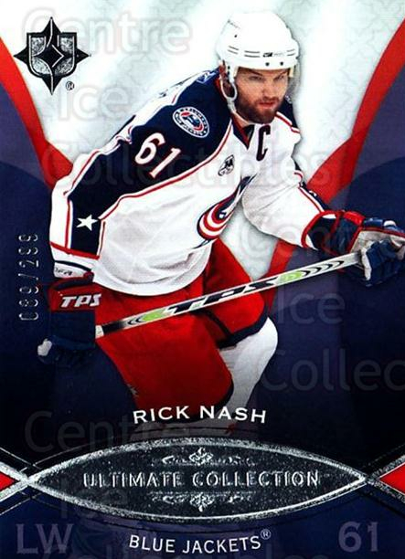2008-09 UD Ultimate Collection #11 Rick Nash<br/>1 In Stock - $5.00 each - <a href=https://centericecollectibles.foxycart.com/cart?name=2008-09%20UD%20Ultimate%20Collection%20%2311%20Rick%20Nash...&quantity_max=1&price=$5.00&code=582816 class=foxycart> Buy it now! </a>