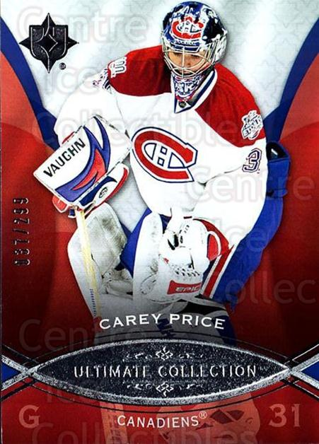 2008-09 UD Ultimate Collection #19 Carey Price<br/>1 In Stock - $10.00 each - <a href=https://centericecollectibles.foxycart.com/cart?name=2008-09%20UD%20Ultimate%20Collection%20%2319%20Carey%20Price...&price=$10.00&code=582824 class=foxycart> Buy it now! </a>