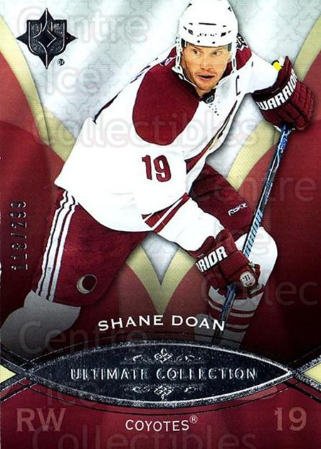 2008-09 UD Ultimate Collection #29 Shane Doan<br/>1 In Stock - $5.00 each - <a href=https://centericecollectibles.foxycart.com/cart?name=2008-09%20UD%20Ultimate%20Collection%20%2329%20Shane%20Doan...&quantity_max=1&price=$5.00&code=582834 class=foxycart> Buy it now! </a>
