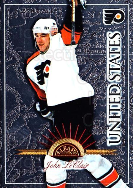 1997-98 Leaf International #100 John LeClair<br/>2 In Stock - $1.00 each - <a href=https://centericecollectibles.foxycart.com/cart?name=1997-98%20Leaf%20International%20%23100%20John%20LeClair...&quantity_max=2&price=$1.00&code=58318 class=foxycart> Buy it now! </a>