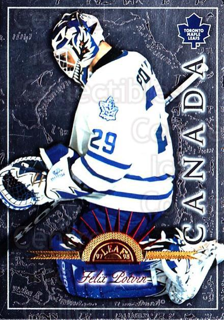 1997-98 Leaf International #24 Felix Potvin<br/>5 In Stock - $1.00 each - <a href=https://centericecollectibles.foxycart.com/cart?name=1997-98%20Leaf%20International%20%2324%20Felix%20Potvin...&quantity_max=5&price=$1.00&code=58380 class=foxycart> Buy it now! </a>