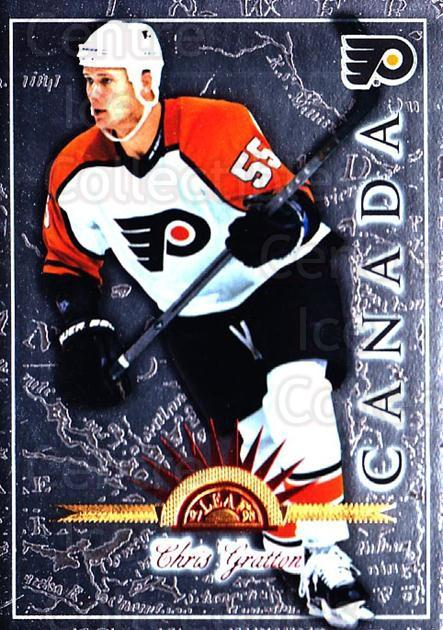 1997-98 Leaf International #27 Chris Gratton<br/>6 In Stock - $1.00 each - <a href=https://centericecollectibles.foxycart.com/cart?name=1997-98%20Leaf%20International%20%2327%20Chris%20Gratton...&quantity_max=6&price=$1.00&code=58383 class=foxycart> Buy it now! </a>