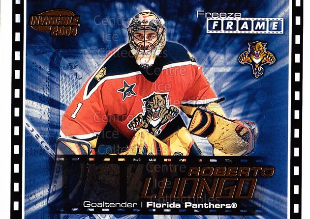 2003-04 Pacific Invincible Freeze Frame #8 Roberto Luongo<br/>6 In Stock - $2.00 each - <a href=https://centericecollectibles.foxycart.com/cart?name=2003-04%20Pacific%20Invincible%20Freeze%20Frame%20%238%20Roberto%20Luongo...&quantity_max=6&price=$2.00&code=583920 class=foxycart> Buy it now! </a>