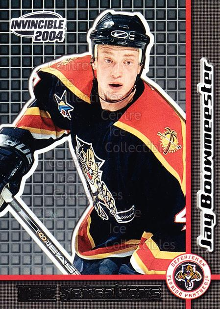 2003-04 Invincible New Sensations #13 Jay Bouwmeester<br/>3 In Stock - $2.00 each - <a href=https://centericecollectibles.foxycart.com/cart?name=2003-04%20Invincible%20New%20Sensations%20%2313%20Jay%20Bouwmeester...&quantity_max=3&price=$2.00&code=583949 class=foxycart> Buy it now! </a>