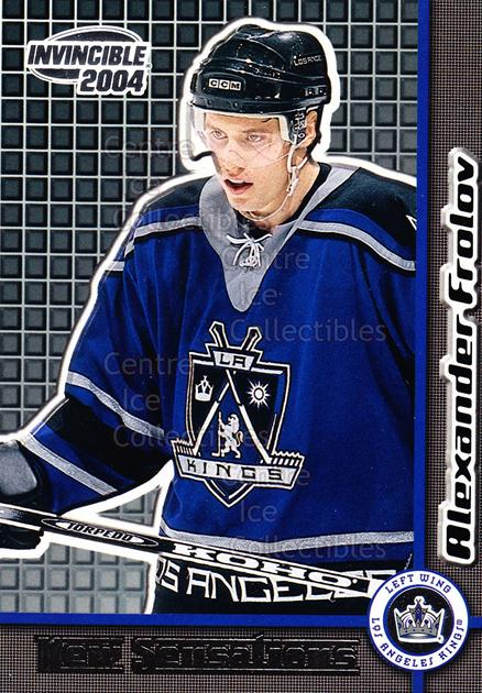 2003-04 Invincible New Sensations #14 Alexander Frolov<br/>3 In Stock - $2.00 each - <a href=https://centericecollectibles.foxycart.com/cart?name=2003-04%20Invincible%20New%20Sensations%20%2314%20Alexander%20Frolo...&quantity_max=3&price=$2.00&code=583950 class=foxycart> Buy it now! </a>