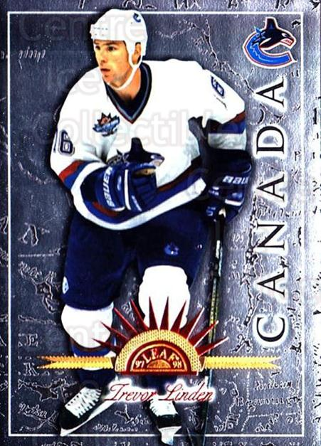 1997-98 Leaf International #39 Trevor Linden<br/>6 In Stock - $1.00 each - <a href=https://centericecollectibles.foxycart.com/cart?name=1997-98%20Leaf%20International%20%2339%20Trevor%20Linden...&quantity_max=6&price=$1.00&code=58396 class=foxycart> Buy it now! </a>